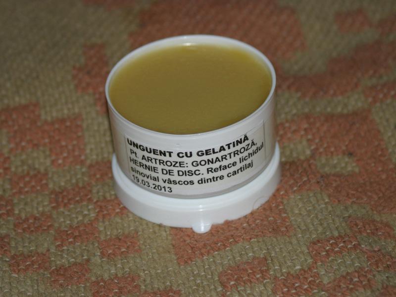 Gelatină comestibilă. în tratamentul artrozei