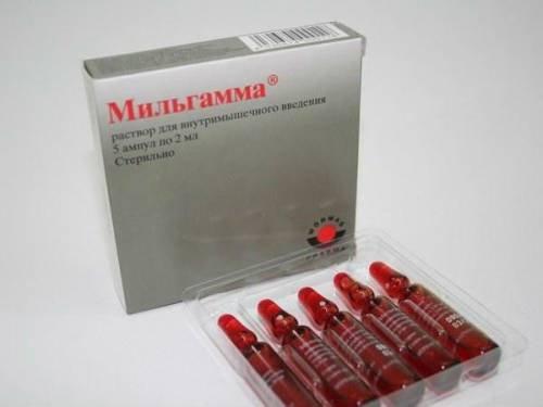 inflamația articulației milgamma