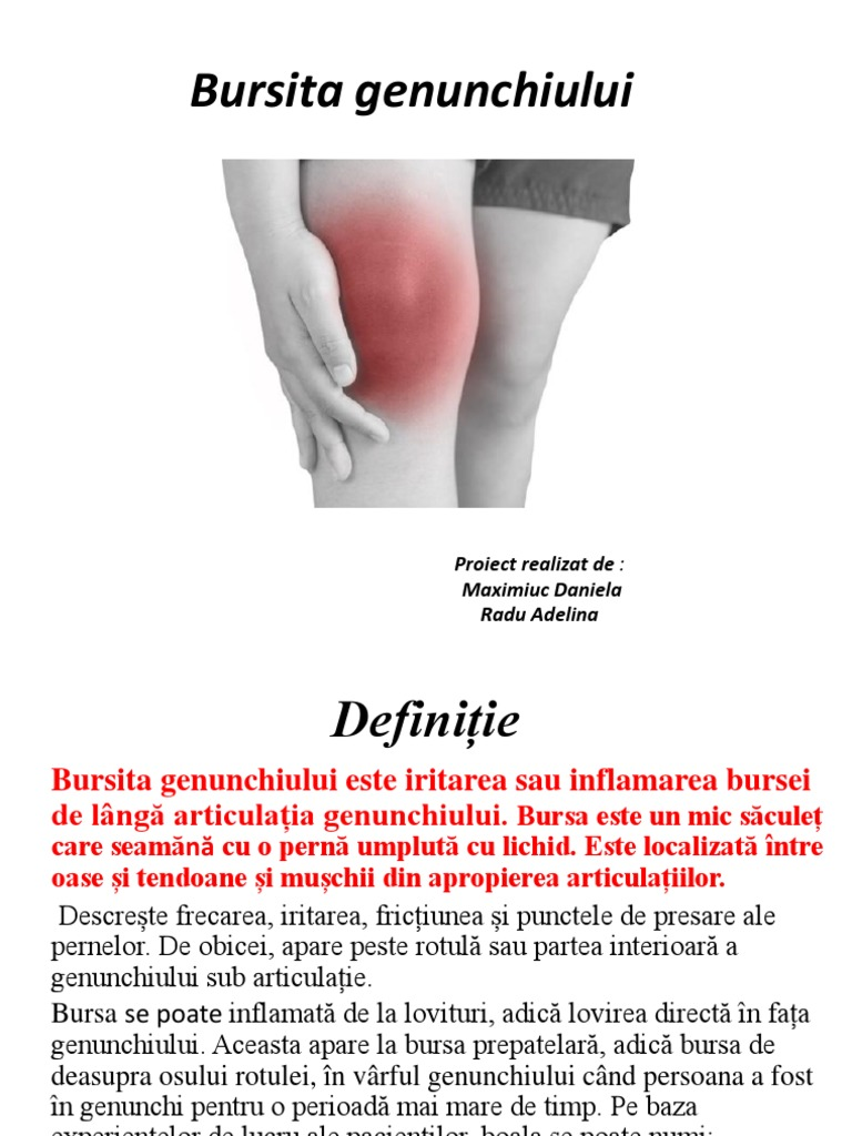 Bursita Genunchi - Ortopedie ArcaLife