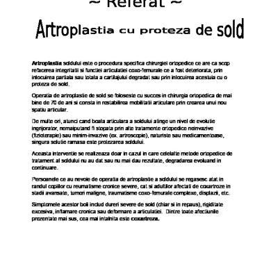 artroza degenerativă a articulației șoldului