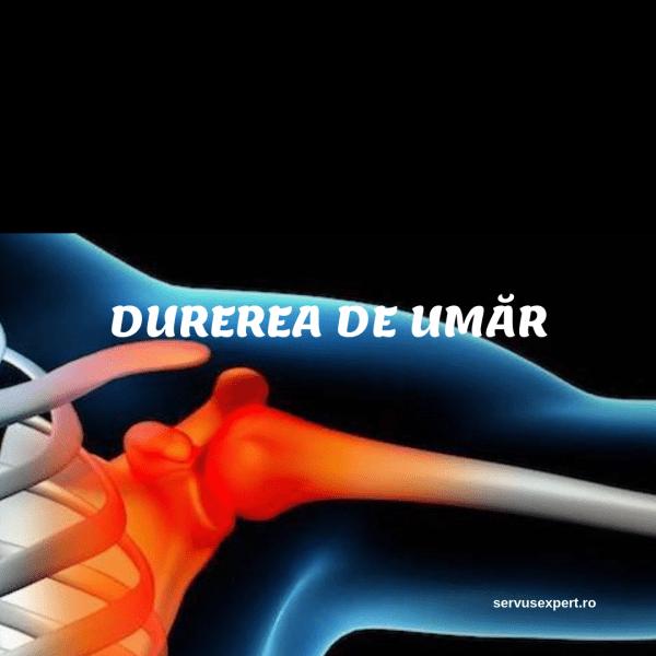 durere și crunchează articulația umărului