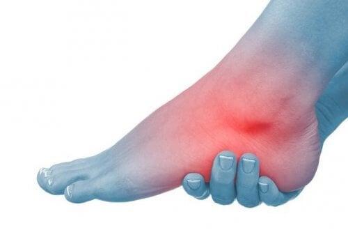 durere în jurul articulației piciorului